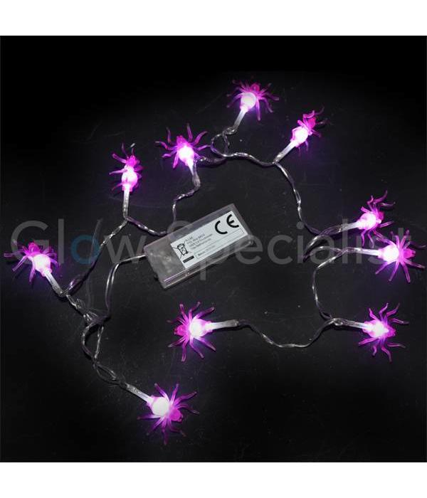 HALLOWEEN LED LICHTKETTING MET 10 LAMPJES - KLEINE SPIN