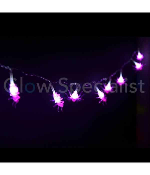 HALLOWEEN LED STRINGLIGHT WITH 10 LIGHTS - SMALL SPIDERS