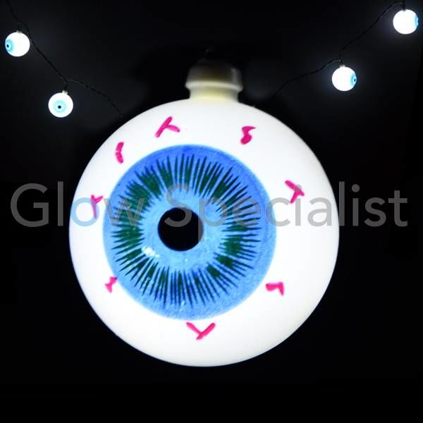 HALLOWEEN LED LICHTKETTING MET 10 LAMPJES - OOGBAL