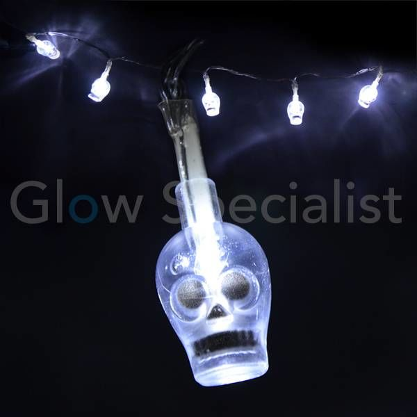 HALLOWEEN LED LICHTKETTING MET 10 LAMPJES - DOODSHOOFD