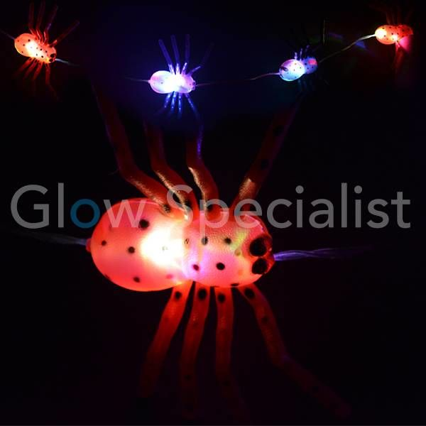 HALLOWEEN LED LIGHT CHAIN WITH 10 COLOR CHANGING LIGHTS - 5 BIG SPIN