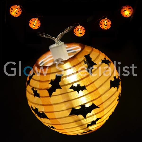 HALLOWEEN LED LIGHT CABLE WITH 10 Lanterns - BATS