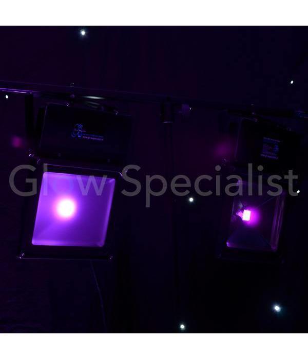 - Glow Specialist LED UV - BLACKLIGHT - 395NM - 60 WATT COB FLOODLIGHT - High Quality