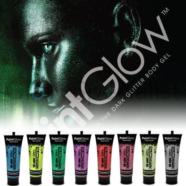 PAINTGLOW GLOW IN THE DARK GLITTER FACE & BODY GEL