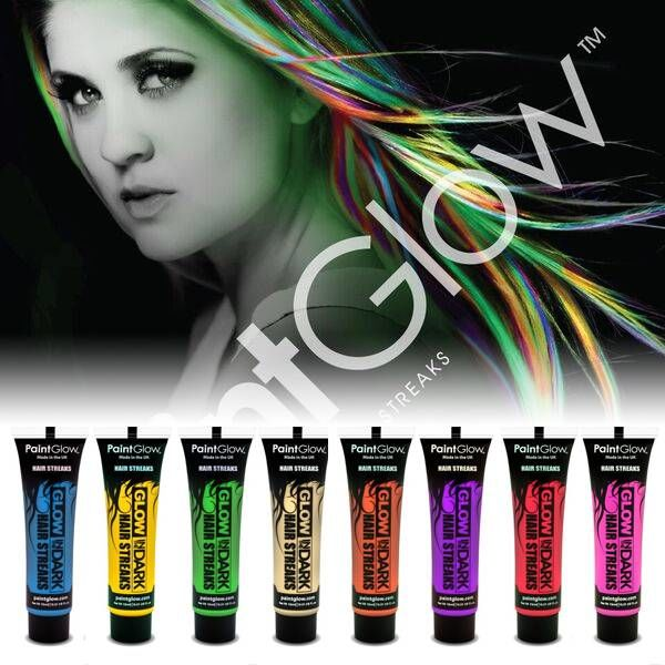 PAINTGLOW GLOW IN THE DARK HAIR STREAKS