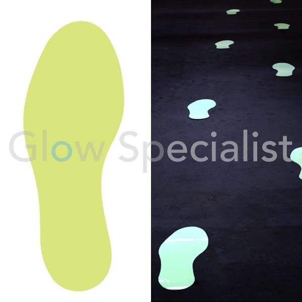 GLOW IN THE DARK FOOTSTEPS WITH ANTI-SLIP - PAIR