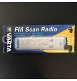 Varta DIGITALE FM SCAN RADIO - MET LAMPJE EN KOPTELEFOON (OORTJES)