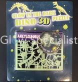 GLOW IN THE DARK 3D DINO PUZZEL - 6 ASSORTI