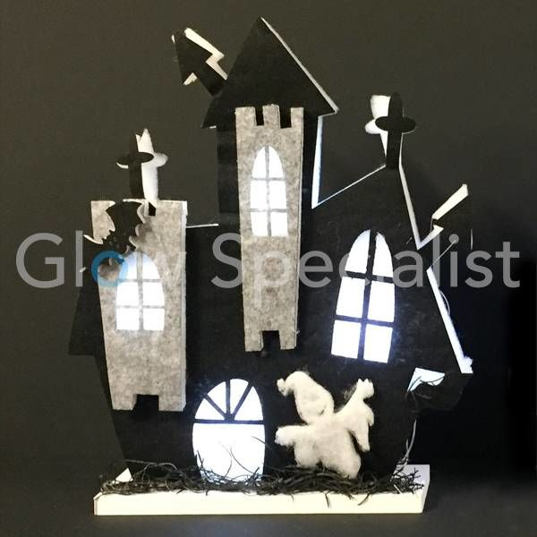 HALLOWEEN LED DECORATIE - SPOOKKASTEEL 34CM