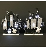 HALLOWEEN DECORATIONS LED - HAUNTED CASTLE 34CM