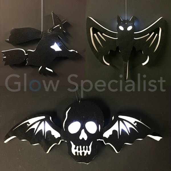 HALLOWEEN LED HANG DECORATIE - 3 ASSORTI
