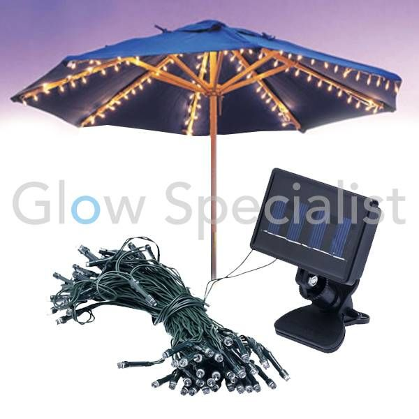 SOLAR STRING LIGHT UMBRELLA - 72 LED LIGHTS