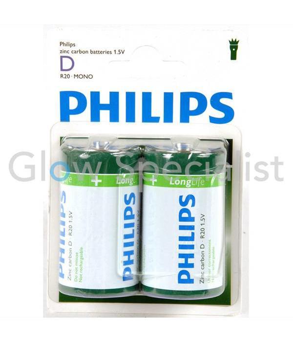Philips PHILIPS BATTERIJEN R20 - MONO - 2 STUKS