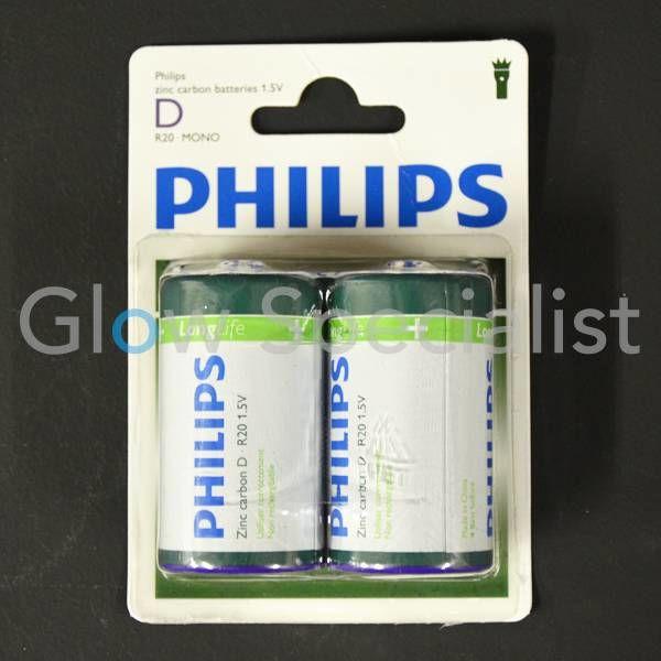PHILIPS BATTERIES R20 - MONO - 2 PIECES