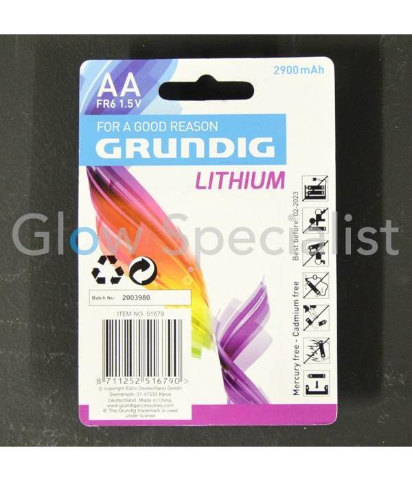 Grundig GRUNDIG BATTERIJEN - AA / FR6 LITHIUM - 2 STUKS (PENLITE)