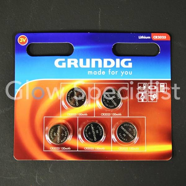 GRUNDIG CELL BATTERIES - CR2025 - 5 PIECES