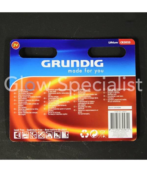 Grundig GRUNDIG KNOOPCEL BATTERIJEN - CR2025 - 5 STUKS