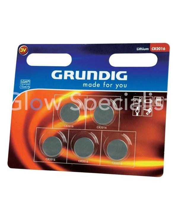 Grundig GRUNDIG KNOOPCEL BATTERIJEN - CR2016 - 5 STUKS