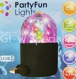 Party Fun Light ROTEREND DISCO LAMPJE MET USB AANSLUITING