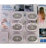 Grundig WIRELESS LED LIGHT SET WITH REMOTE CONTROL - SET OF 6 PCS