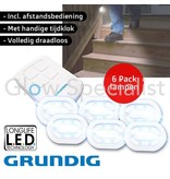 Grundig GRUNDIG DRAADLOZE LED LAMPEN MET AFSTANDSBEDIENING - SET VAN 6 STUKS