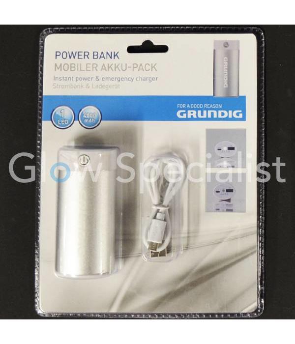 Grundig GRUNDIG POWER BANK 4000 mAh - STROOM- EN NOODOPLADER MET ZAKLAMP