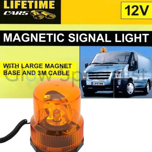 Lifetime MAGNETIC ORANGE SIGNAL LIGHT - WITH 12V CAR CHARGER