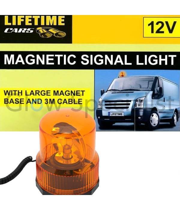 Lifetime MAGNETISCH ORANJE ZWAALICHT - MET 12V AUTOLADER