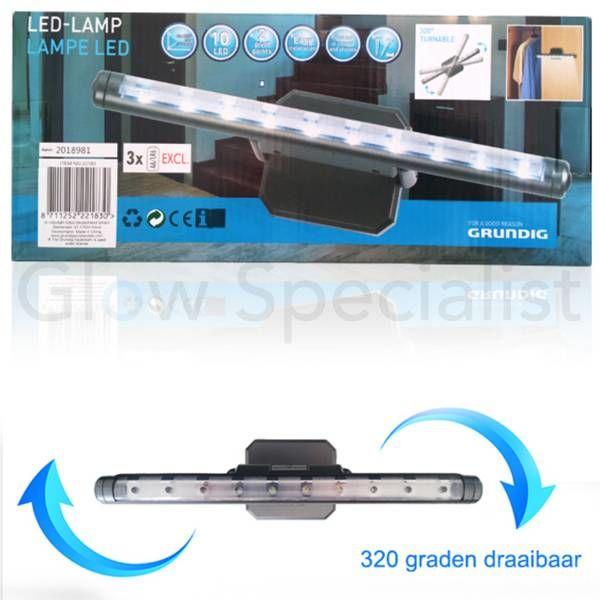 GRUNDIG LED LAMP 10 LED - MET 320 GRADEN DRAAIBAAR PLATEAU