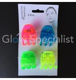 NEON HAIR CLIPS - SET OF 4