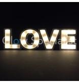 DECORATIEVE LETTERS MDF MET LED VERLICHTING - LOVE - 23 LED