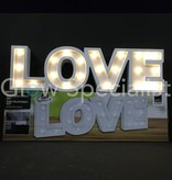 DECORATION LETTERS MDF WITH LED LIGHT - LOVE