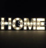 DECORATION LETTERS MDF WITH LED LIGHT - HOME - 30 LED