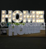 DECORATIEVE LETTERS MDF MET LED VERLICHTING - HOME - 30 LED