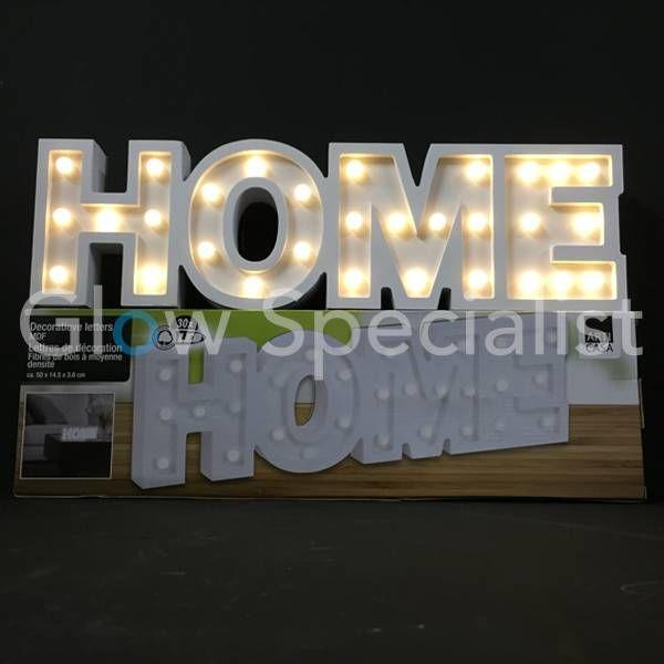 DECORATIEVE LETTERS MDF MET LED VERLICHTING - HOME