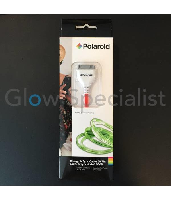 Polaroid FLASHING LED CHARGE & SYNC CABLE - SUITABLE FOR IPHONE 3/4 AND IPAD