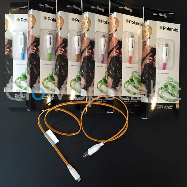 FLASHING LED CHARGE & SYNC CABLE MICRO USB - SUITABLE FOR ANDROID PHONES/TABLETS