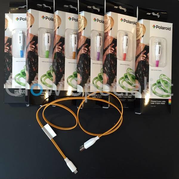 LICHTGEVENDE OPLAADKABEL LED MICRO USB - GESCHIKT VOOR ANDROID TELEFOON/TABLET