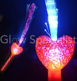FIBER OPTIC WAND WITH RED LED HEART