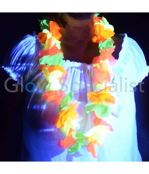 UV/BLACKLIGHT HAWAIIAN NECKLACE MULTICOLOR