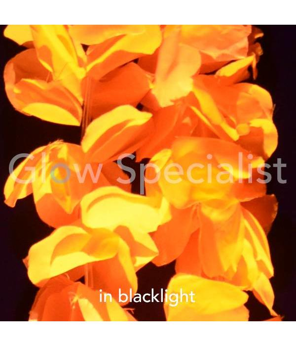 UV/BLACKLIGHT HAWAIIAN NECKLACE - ORANGE