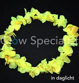 UV/BLACKLIGHT HAWAIIAN NECKLACE - YELLOW