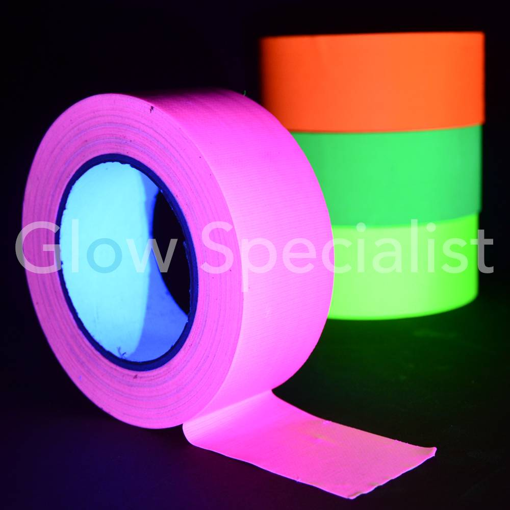 Uv blacklight neon tape 50 mm x 25 m glow specialist glow uv blacklight neon tape 50 mm x 25 m aloadofball Image collections