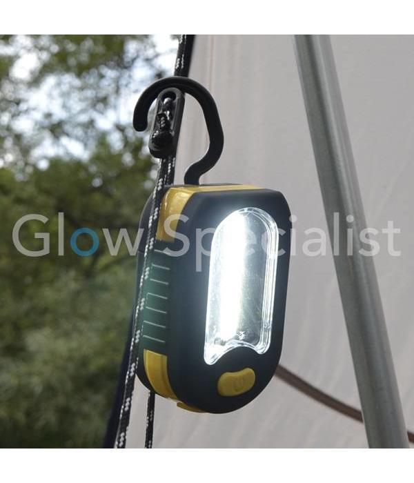 MULTIFUNCTIONELE COB ZAKLAMP MET 3 LED'S