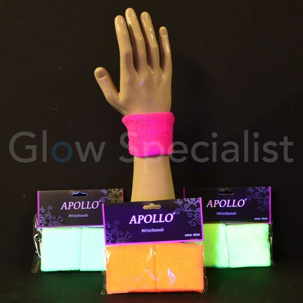 UV NEON WRIST BANDS - SET OF 2 PCS