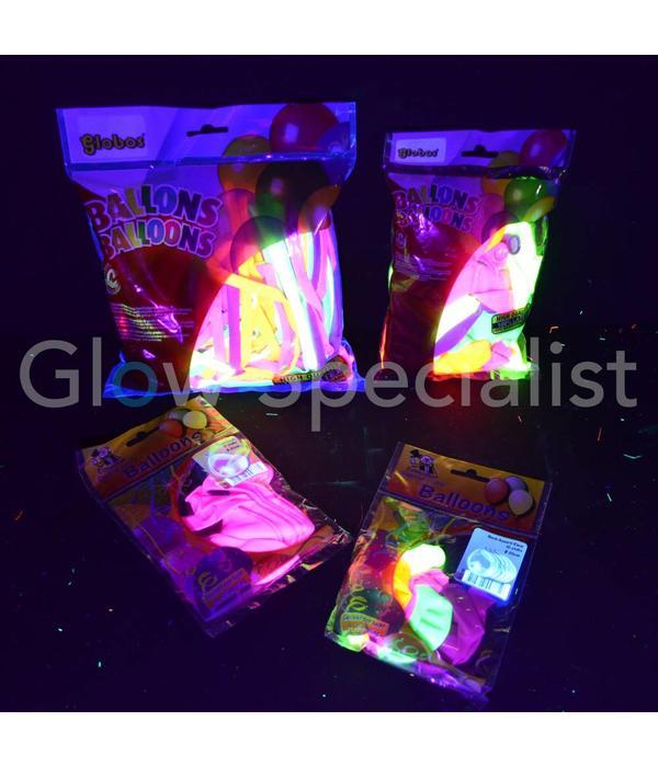 UV NEON MODELLEERBALLONNEN - ASSORTI - 100 STUKS