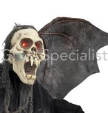 HALLOWEEN GHOST BATS - WITH RED LED EYES