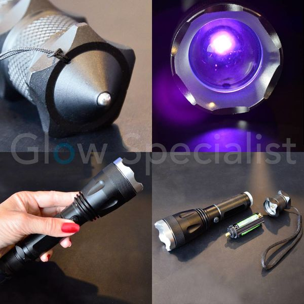MULTIFUNCTIONAL UV LED FLASHLIGHT - 10W