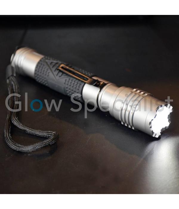 LED ZAKLAMP CREE 3 WATT MET FOCUS- EN KNIPPERFUNCTIE