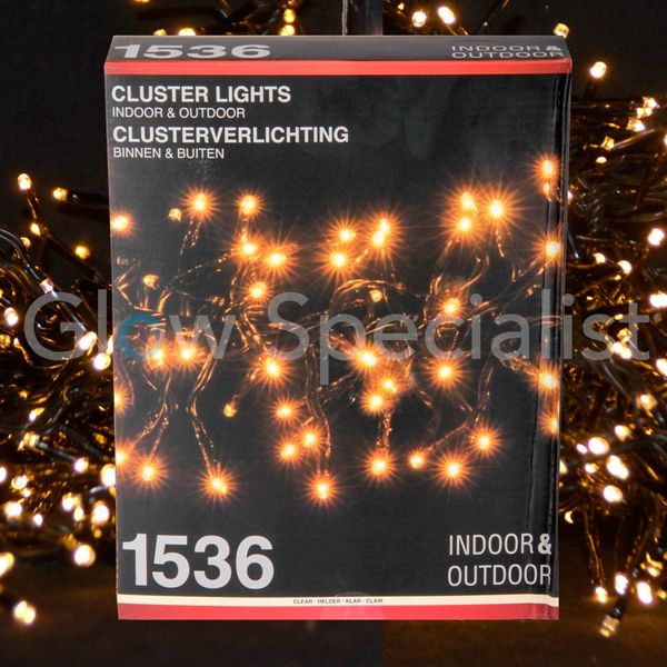 LED CLUSTERVERLICHTING - 1536 LAMPJES - WARM WIT